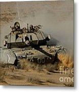 An Israel Defense Force Magach 7 Main Metal Print