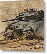 An Israel Defense Force Merkava Mark II Metal Print
