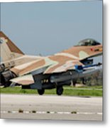 An Israeli Air Force F-16c Metal Print