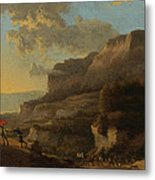 An Italianate Landscape With Travellers Ambushed By Bandits Metal Print