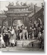An Itinerant Chinese Doctor At Metal Print