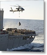 An Mh-60s Sea Hawk Helicopter Carries Metal Print
