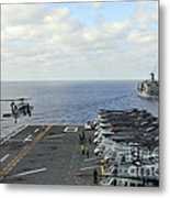 An Mh-60s Sea Hawk Takes Metal Print