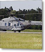 An Nh90 Helicopter Of The Italian Navy Metal Print