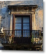 An Old Balcony In Syracuse Metal Print
