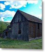 An Old Barn In The Sage Metal Print