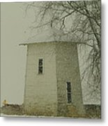 An Old Bin In The Snow Metal Print by Jeff Swan