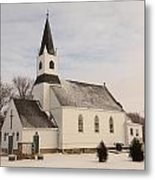 An Old Church In Palermo North Dakota Metal Print