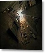 An Old Courtyard Metal Print