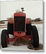 An Old Dase Tractor Metal Print