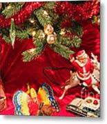 An Old Fashioned Christmas - Santa Claus Metal Print