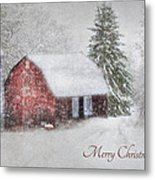 An Old Fashioned Merry Christmas Metal Print