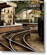 An Old-fashioned Train Station Metal Print