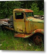 An Old Flatbed Metal Print