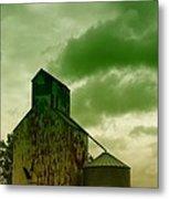 An Old Grain Silo In Eastern Montana Metal Print