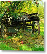 An Old Harvest Wagon Metal Print