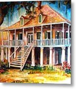 An Old Louisiana Planters House Metal Print