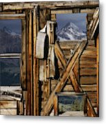 An Old Miners Shack With A View Metal Print