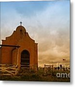 An Old Mission In Northeastern Montana Metal Print
