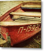 An Old Row Boat Metal Print