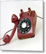 An Old Telephone Metal Print