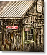An Old Tool Shed Metal Print