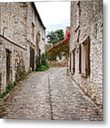 An Old Village Street Metal Print by Olivier Le Queinec