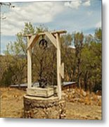 An Old Well In Lincoln City New Mexico Metal Print