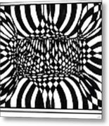 An Optical Illusion Metal Print