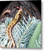 An Uncommon Garter Snake Metal Print