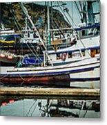 Anacortes Fishing Fleet Washington State Metal Print