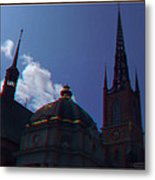 Anaglyph Church Metal Print