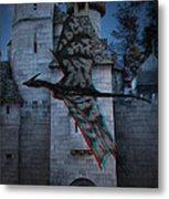 Anaglyph Dragon Metal Print