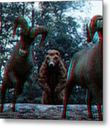 Anaglyph Wild Animals Metal Print