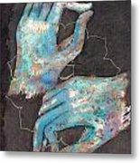 Anahata - Heart 'blue Hand' Chakra Mudra Metal Print