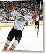 Anaheim Ducks V Winnipeg Jets - Game Metal Print