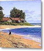 Anahola Beach Kauai Metal Print