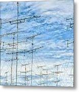 Analog Television Aerials Metal Print