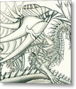 Anare'il The Chaos Dragon Metal Print