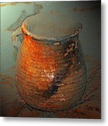 Anasazi Cooking Pot Metal Print
