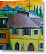 Ancient Volterra Wired Metal Print
