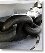 Anchor Chain 02 Queen Mary Ocean Liner Long Beach Ca Metal Print