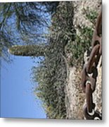 Anchor Chain In The Desert Metal Print