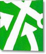 Anchor- Green Metal Print