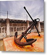 Anchor In La Canal Metal Print