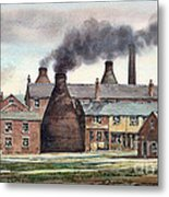 Anchor Road Pot Works Metal Print