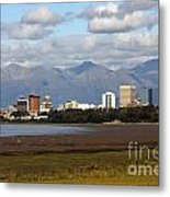 Anchorage Alaska Skyline Metal Print