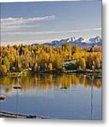 Anchorage And Westchester Pano Metal Print