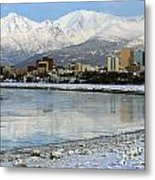 Anchorage Cityscape Metal Print