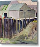 Anchorage Dock 1980s Metal Print